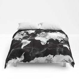 world map marble 4 Comforters