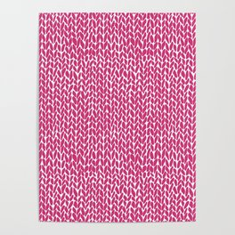 Hand Knit Hot Pink Poster
