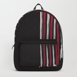 Grunge USA flag Backpack