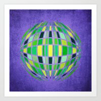 globe Art Prints featuring globe by Katilinova