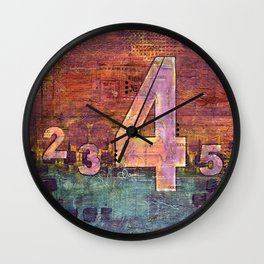 Journey by Number: 4 Wall Clock
