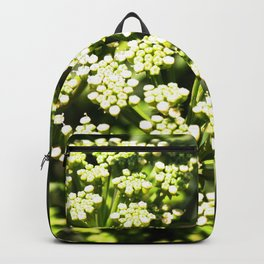 Succulent White and Green Flowers Backpack