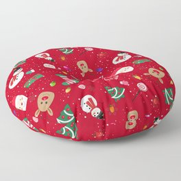 Happy New Year Theme Pattern Floor Pillow
