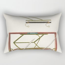 Hawkins Machine for writing and drawing Rectangular Pillow