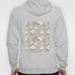 cat toe beans and cotton flowers Hoody