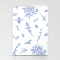insects Stationery Cards featuring Insects & Flowers by Sollefe