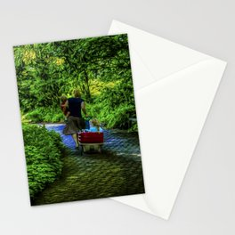A day with the kids Stationery Cards