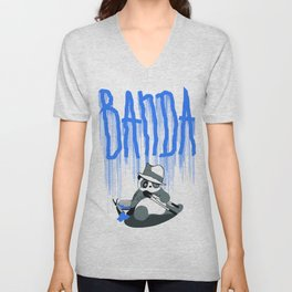 Panda Banda Unisex V-Neck