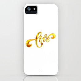 Love Quote Design, Colorful Hearts, Rainbows and Flowers (17) iPhone Case