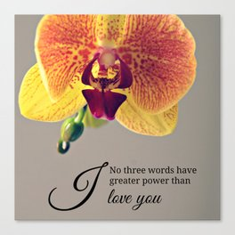 Orchid love inspiration quote #8 Canvas Print