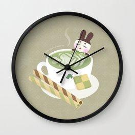 Matcha Latte Onsen Wall Clock