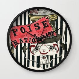 Poise & Rationality Wall Clock