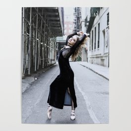 Grunge Ballerina Poster