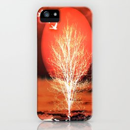Sun in red iPhone Case