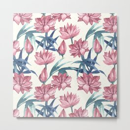 Oriental Flowers Metal Print