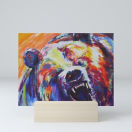 Mama Bear or Don't mess with my kid! Mini Art Print