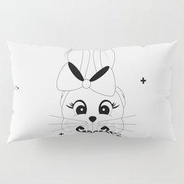 Miss Rapeti (monochrome) Pillow Sham