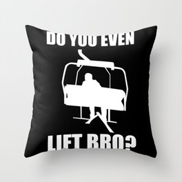 Ski Team Gift Lift Skiing Lover Skiing Goggles Throw Pillow