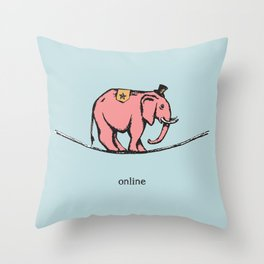 'Online' from the RetroTech Series by DaMoJo.co Throw Pillow