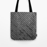 herringbone Tote Bags featuring Herringbone by Sharon H.