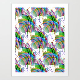 Maple Leaf Abstract Art Print