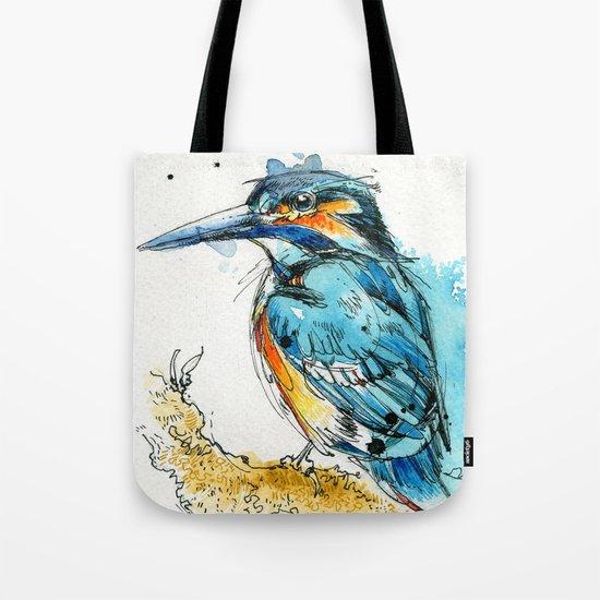 Regal Kingfisher Tote Bag