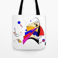 birdman Tote Bags featuring Birdman by Charles Oliver