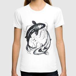 Nature Ying Yang Koi Fish T-shirt