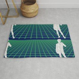 80's Postmodern Mystery Grid Rug