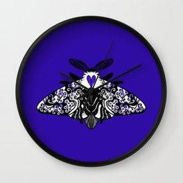 MYSTIC BUTTERFLY BLUE Wall Clock