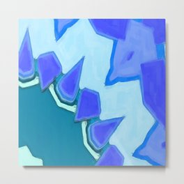 Jagged Tooth Teal Metal Print
