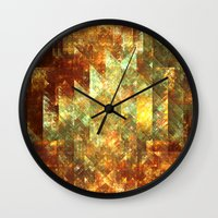 crystals Wall Clocks featuring Crystals by Rhawrbhawrburr