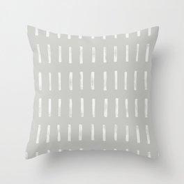 dash grey Throw Pillow