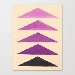 Colorful Purple Geometric Triangle Pattern With Black Accent Canvas Print