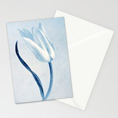 white tulip Stationery Cards