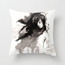 Miseria de los miserables (sketch version) Throw Pillow