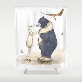 Winter gift for Bear Shower Curtain