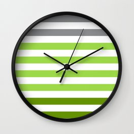 Stripes Gradient - Green Wall Clock