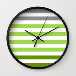 Stripes Gradient - Green Wall Clock