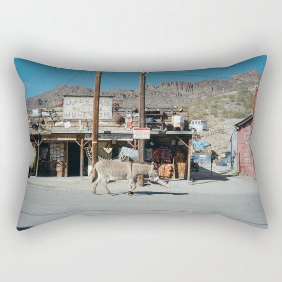 Jackass Junction Rectangular Pillow