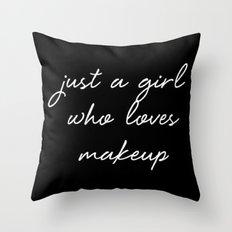 Makeup Throw Pillow