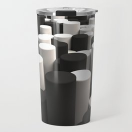 Pattern of black and white cylinders Travel Mug