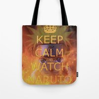 naruto Tote Bags featuring Naruto by Wis Marvin