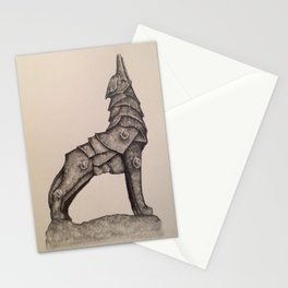 armored wolf Stationery Cards