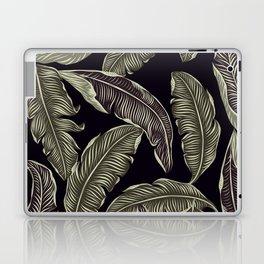palm leaves black Laptop & iPad Skin