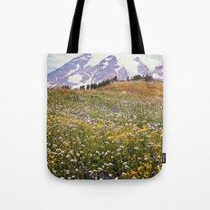Rainier Flowers Tote Bag