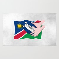 rugby Area & Throw Rugs featuring Rugby Namibia by mailboxdisco
