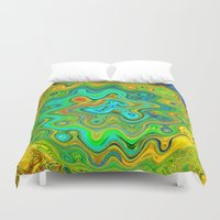 roald dahl Duvet Covers featuring Wonky by Geni