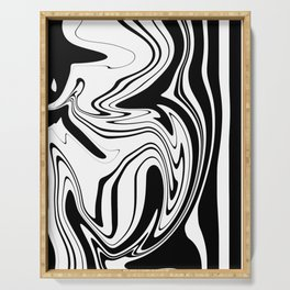 Stripes, distorted 1 Serving Tray