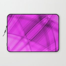 Angular strokes with strawberry diagonal lines from intersecting bright stripes of light. Laptop Sleeve
